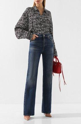 Женские джинсы BALENCIAGA синего цвета, арт. 594390/TCW03   Фото 2