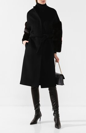 Женское пальто из смеси шерсти и кашемира AVA ADORE черного цвета, арт. VILNIUS/40 AA FW19   Фото 2