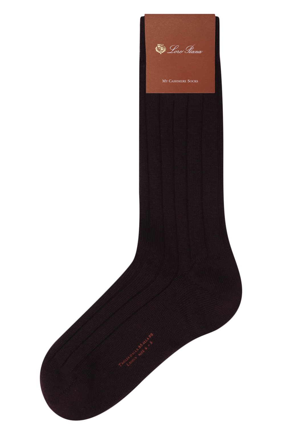 Женские кашемировые носки LORO PIANA фиолетового цвета, арт. FAF8553 | Фото 1