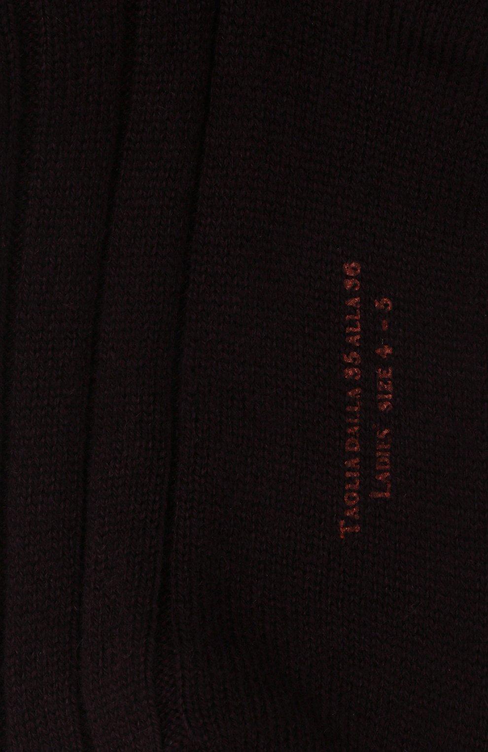 Женские кашемировые носки LORO PIANA фиолетового цвета, арт. FAF8553 | Фото 2