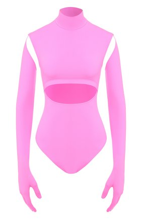 Женское боди VETEMENTS розового цвета, арт. WAH20TR304/FLU0 PINK | Фото 1