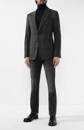 Мужской шерстяной пиджак TOM FORD темно-серого цвета, арт. 650R15/10SP40 | Фото 2