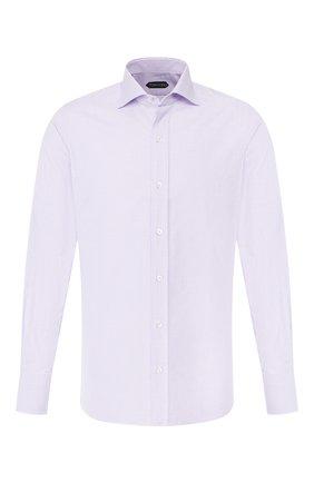 Мужская хлопковая сорочка TOM FORD сиреневого цвета, арт. 6FT604/94S1AX | Фото 1