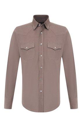 Мужская хлопковая рубашка TOM FORD бежевого цвета, арт. 6FT873/94MEKI | Фото 1