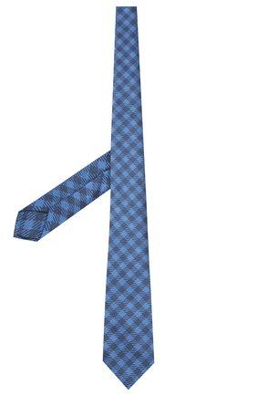 Мужской шелковый галстук LUIGI BORRELLI синего цвета, арт. LC80-B/TT8761 | Фото 2 (Материал: Текстиль; Принт: С принтом)