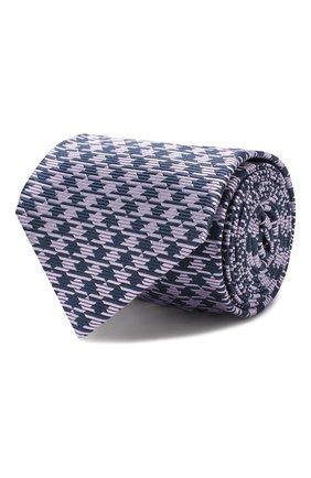 Мужской шелковый галстук LUIGI BORRELLI сиреневого цвета, арт. LC80-B/TT8760 | Фото 1