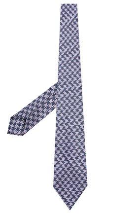 Мужской шелковый галстук LUIGI BORRELLI сиреневого цвета, арт. LC80-B/TT8760 | Фото 2