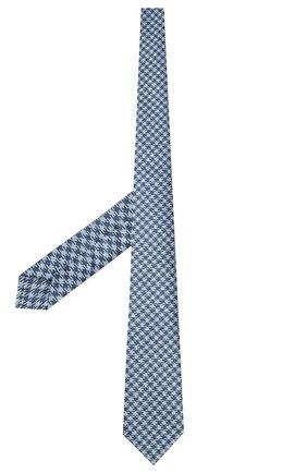 Мужской шелковый галстук LUIGI BORRELLI голубого цвета, арт. LC80-B/TT8760 | Фото 2