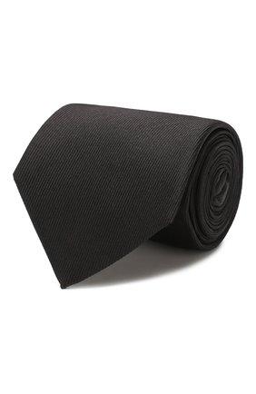 Мужской шелковый галстук LUIGI BORRELLI черного цвета, арт. LC80-B/TT8645   Фото 1