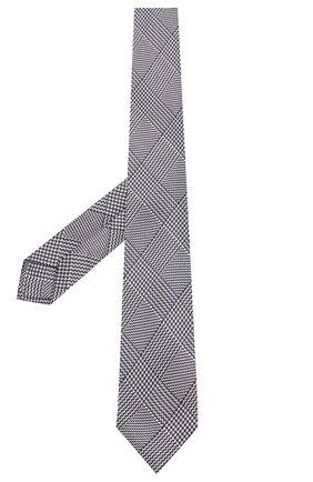 Мужской шелковый галстук LUIGI BORRELLI черно-белого цвета, арт. LC80-B/TT8589 | Фото 2