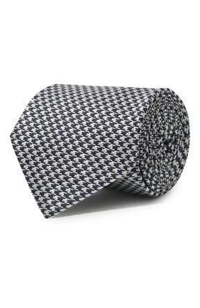 Мужской шелковый галстук LUIGI BORRELLI серого цвета, арт. LC80-B/TT8586   Фото 1