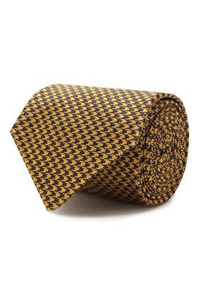 Мужской шелковый галстук LUIGI BORRELLI желтого цвета, арт. LC80-B/TT8586 | Фото 1
