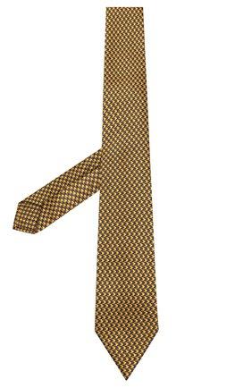 Мужской шелковый галстук LUIGI BORRELLI желтого цвета, арт. LC80-B/TT8586 | Фото 2