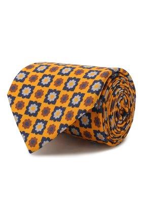 Мужской галстук из смеси шерсти и шелка LUIGI BORRELLI желтого цвета, арт. LC80-B/TT8572 | Фото 1