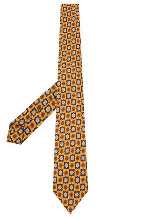 Мужской галстук из смеси шерсти и шелка LUIGI BORRELLI желтого цвета, арт. LC80-B/TT8572 | Фото 2