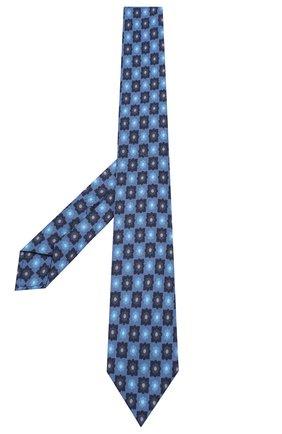 Мужской галстук из смеси шерсти и шелка LUIGI BORRELLI синего цвета, арт. LC80-B/TT8572 | Фото 2 (Материал: Шелк, Текстиль, Шерсть; Статус проверки: Проверена категория; Принт: С принтом)