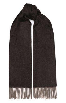 Мужской кашемировый шарф ANDREA CAMPAGNA темно-коричневого цвета, арт. 181 DES 840MI/SCARF | Фото 1