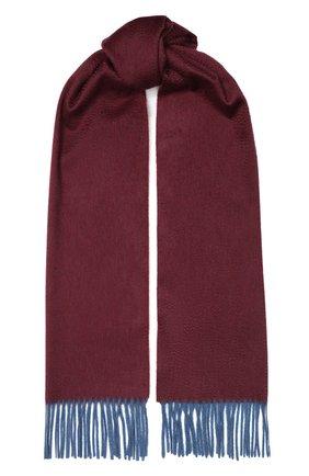 Мужской кашемировый шарф ANDREA CAMPAGNA бордового цвета, арт. 181 DES 840MI/SCARF | Фото 1