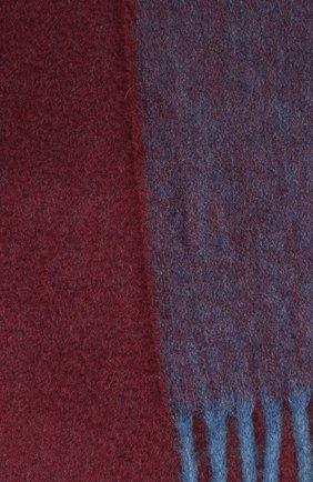 Мужской кашемировый шарф ANDREA CAMPAGNA бордового цвета, арт. 181 DES 840MI/SCARF | Фото 2