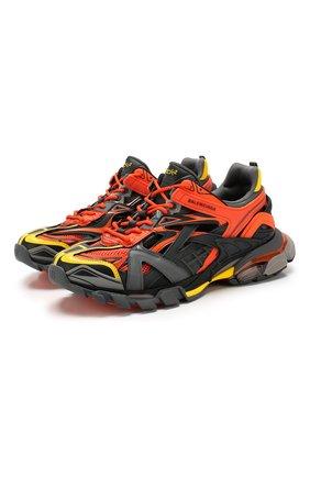 Мужские комбинированные кроссовки track.2 BALENCIAGA оранжевого цвета, арт. 568614/W2GN3 | Фото 1