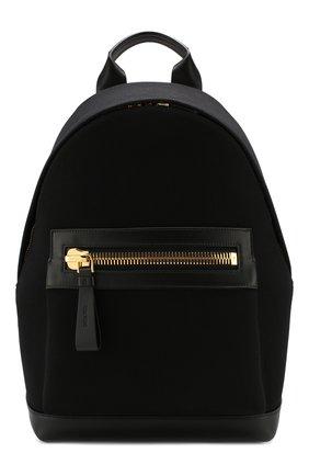Мужской комбинированный рюкзак TOM FORD черного цвета, арт. H0397T-TCN005 | Фото 1