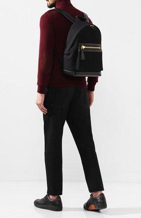 Мужской комбинированный рюкзак TOM FORD черного цвета, арт. H0397T-TCN005 | Фото 2
