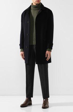 Мужской кашемировый свитер BRIONI хаки цвета, арт. UMU30L/08K41 | Фото 2