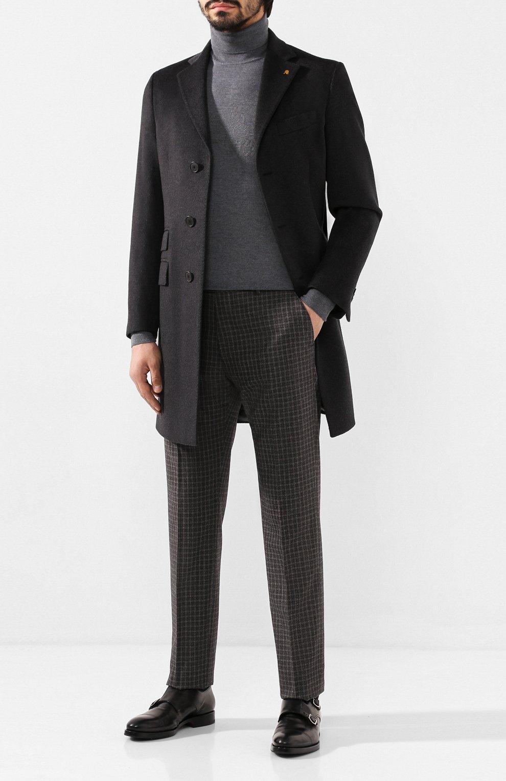 Мужские кожаные монки W.GIBBS черного цвета, арт. 8378001/0221 | Фото 2