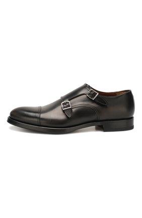 Мужские кожаные монки W.GIBBS черного цвета, арт. 8378001/0221 | Фото 3