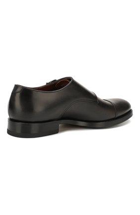 Мужские кожаные монки W.GIBBS черного цвета, арт. 8378001/0221 | Фото 4