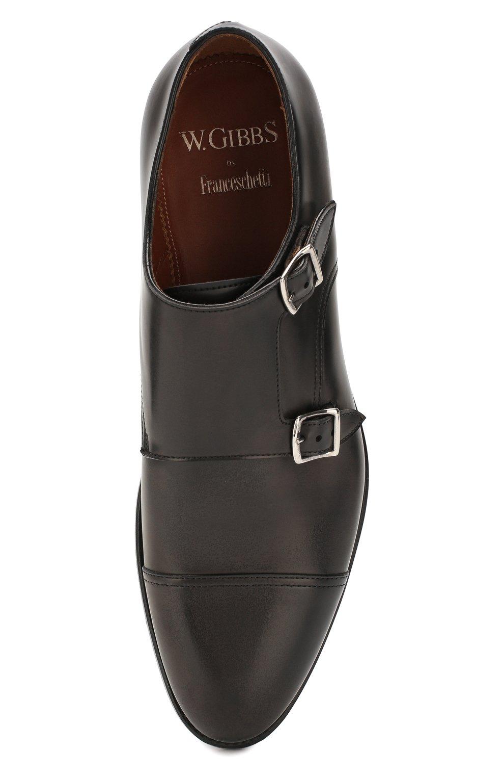 Мужские кожаные монки W.GIBBS черного цвета, арт. 8378001/0221 | Фото 5