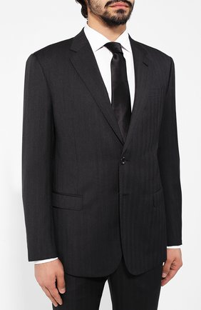Мужской шерстяной костюм GIORGIO ARMANI темно-серого цвета, арт. 8WGAV001/T011T | Фото 2