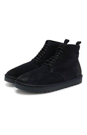 Мужские замшевые ботинки MARSELL темно-синего цвета, арт. MMG131/DR0M R0VESCI0 | Фото 1