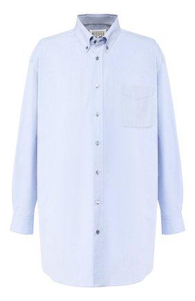 Мужская хлопковая рубашка MAISON MARGIELA голубого цвета, арт. S50DL0387/S49616 | Фото 1
