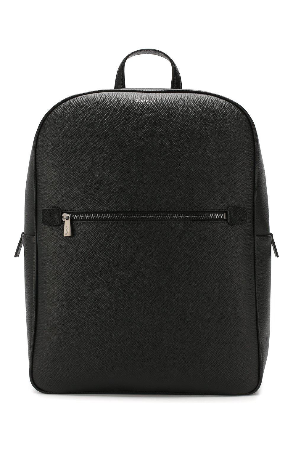Мужской кожаный рюкзак evoluzione SERAPIAN черного цвета, арт. SEV0LMLL7006M31C   Фото 1