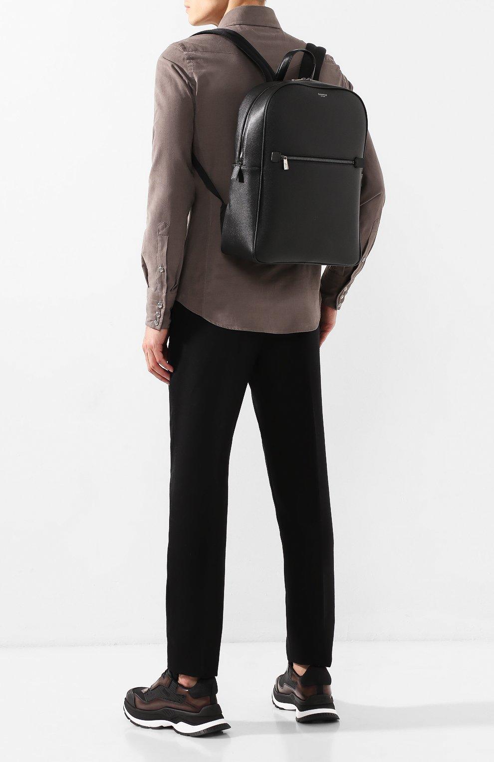 Мужской кожаный рюкзак evoluzione SERAPIAN черного цвета, арт. SEV0LMLL7006M31C   Фото 2