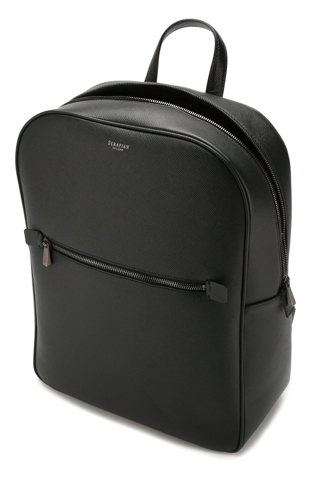 Мужской кожаный рюкзак evoluzione SERAPIAN черного цвета, арт. SEV0LMLL7006M31C   Фото 4