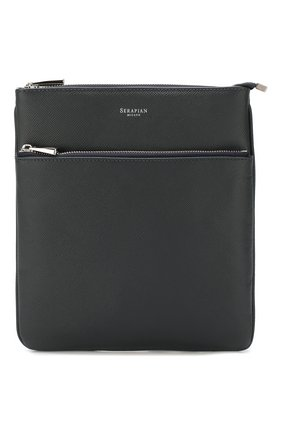 Мужская кожаная сумка-планшет SERAPIAN темно-синего цвета, арт. SEV0LMML6794M23D | Фото 1