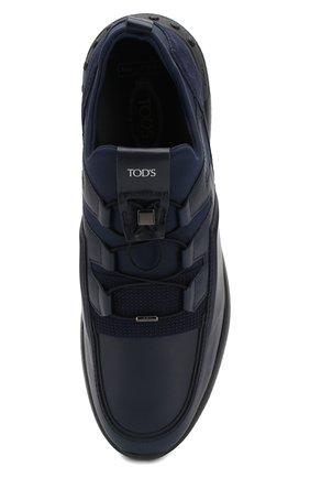 Мужские кожаные кроссовки TOD'S темно-синего цвета, арт. XXM91B0CA40MIA   Фото 5