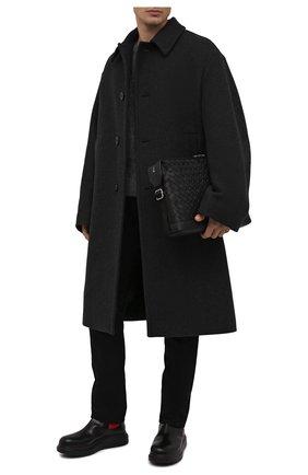 Мужские кожаные челси ALEXANDER MCQUEEN черного цвета, арт. 586198/WHX52 | Фото 2