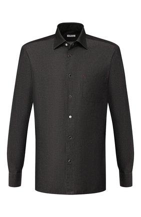Мужская хлопковая рубашка KITON черного цвета, арт. UMCNERHH0702801 | Фото 1