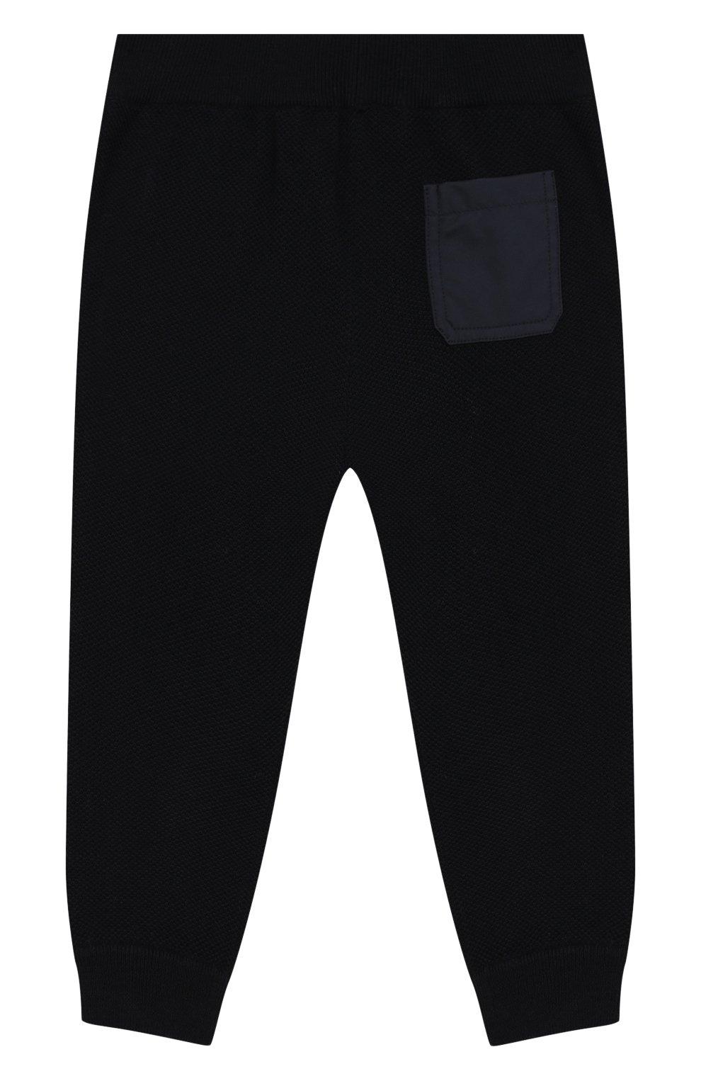 Детские шерстяные брюки LORO PIANA темно-синего цвета, арт. FAI8006 | Фото 2
