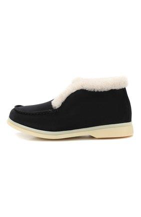 Замшевые ботинки с меховой отделкой | Фото №2