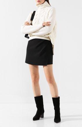Женские замшевые сапоги SANTONI черного цвета, арт. WSES58348HI1APYLN01 | Фото 2