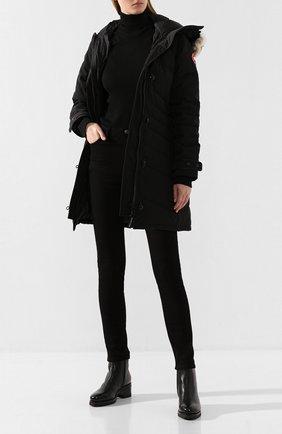 Женские кожаные ботинки SANTONI черного цвета, арт. WTDY57605SM0AHKTN01 | Фото 2