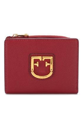 Женские кожаный кошелек FURLA красного цвета, арт. PBO5/Q26   Фото 1