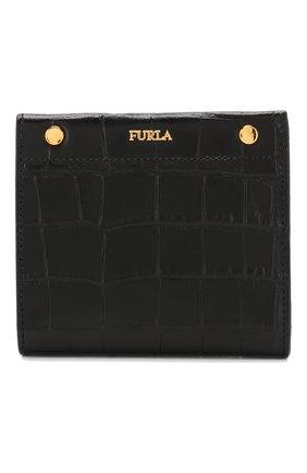 Женские кожаное портмоне lady m FURLA черного цвета, арт. PBV2/KO0 | Фото 1