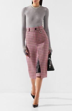 Женская шерстяной пуловер MAISON MARGIELA серого цвета, арт. S51HA0905/S16628 | Фото 2