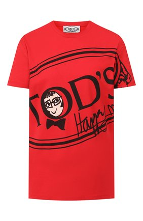 Женская хлопковая футболка TOD'S X ALBER ELBAZ красного цвета, арт. X5MB2395700RVR | Фото 1