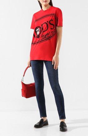 Женская хлопковая футболка TOD'S X ALBER ELBAZ красного цвета, арт. X5MB2395700RVR | Фото 2
